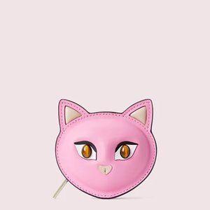 Kate Spade Meow Cat Coin Pouch Pinkopalin PWRU7995